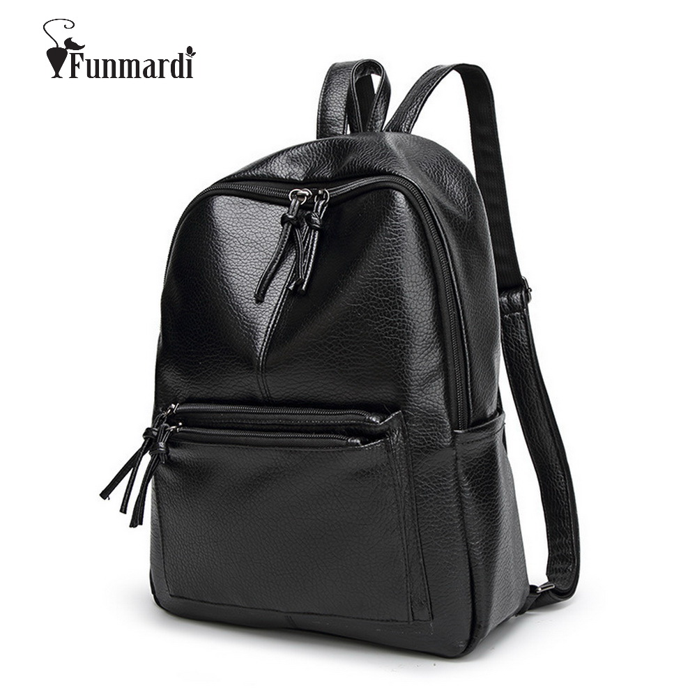 Fashion simple design PU leather backpacks Casual Female bag Trendy women bag luxury shoulder bag vintage leather bag WLHB1394 casual women s shoulder bag with beauty print and pu leather design