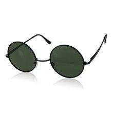 Sunglasses Women Men Fashion Vintage Retro Black Cool Metal Frame Round Sunglasses Unisex Sun Glasses Oculos Gafas De Sol