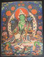 Tibet Tibetan silk embroidery exquisite Thangka Tibetan Buddhist meditation