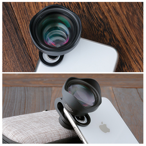 Image 2 - ULANZI 65mm Telephoto Lens for iPhone, HK 4D Super Wide angle Fishyeye Mobile Camera Lens for iPhone Samsung Huawei Sony Android