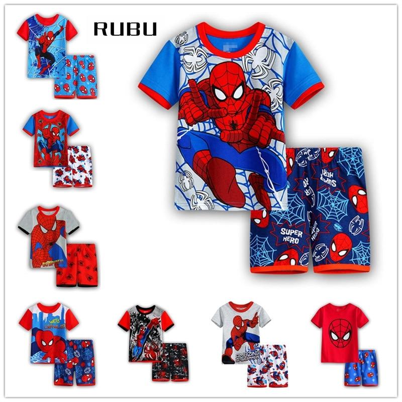 2018 Real Kids Christmas Pajamas Roupas Infantis Menina Set Summer Pyjamas Children Cartoon Baby Cute Pajama Sets