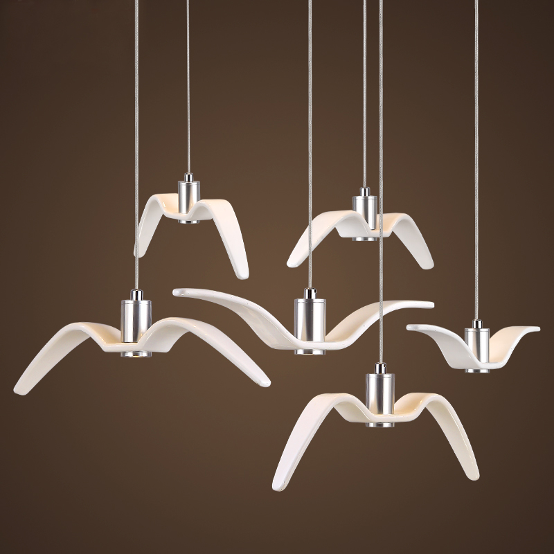 где купить Creative Pendant Lights Personality Birds Pendant Lamp Barroom Pendant Loft/Bar/Dining Room suspension luminaire по лучшей цене