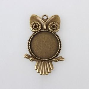 Tibetan Silver Owl Shape Round