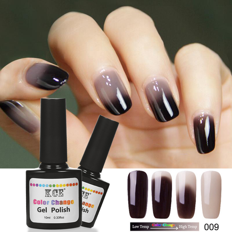 Newest 18 Colors Nail Polish Temperature Change Nail Color UV Gel ...