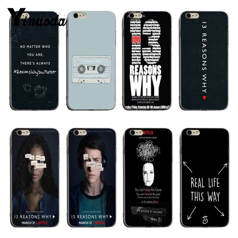 Yinuoda <font><b>13</b></font> Thirteen <font><b>Reasons</b></font> <font><b>Why</b></font> Fashion Luxury <font><b>phone</b></font> <font><b>case</b></font> accessories For iPhone 6plus 6s 7plus 8plus X XS XR Coque Shell image