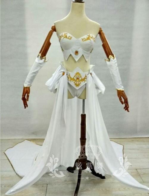2019 jeu chaud LOL Janna Cosplay Costumes femme héros la peau originale uniforme robe ensemble complet pour carnaval fête d'halloween