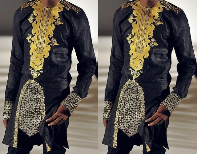 new african style african dashiki men 39 s clothing traditional national hot gold printed long. Black Bedroom Furniture Sets. Home Design Ideas