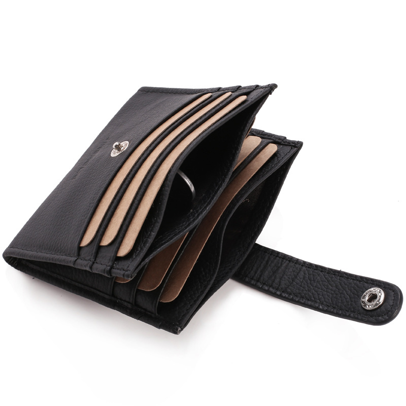 12 Bits New Fashion Leather Credit Card Holder Men Business Cards Cover Purse Card Organizer Coin Wallet Bag