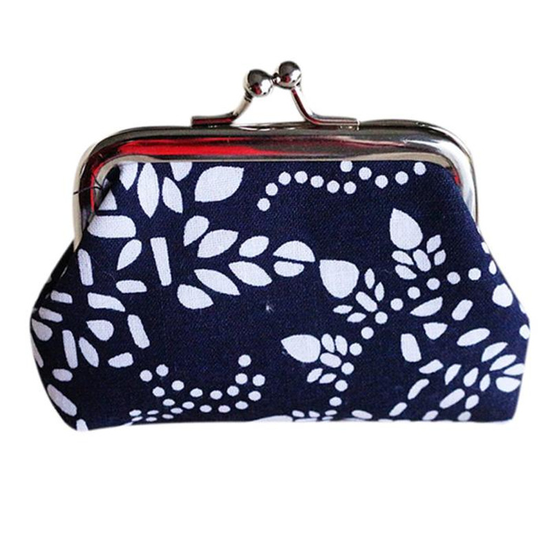 Women wallet Clutch Handbag Retro Vintage girl Fashion printing Mini Hasp Coin Purse brand new gift portefeuille femme wholesale