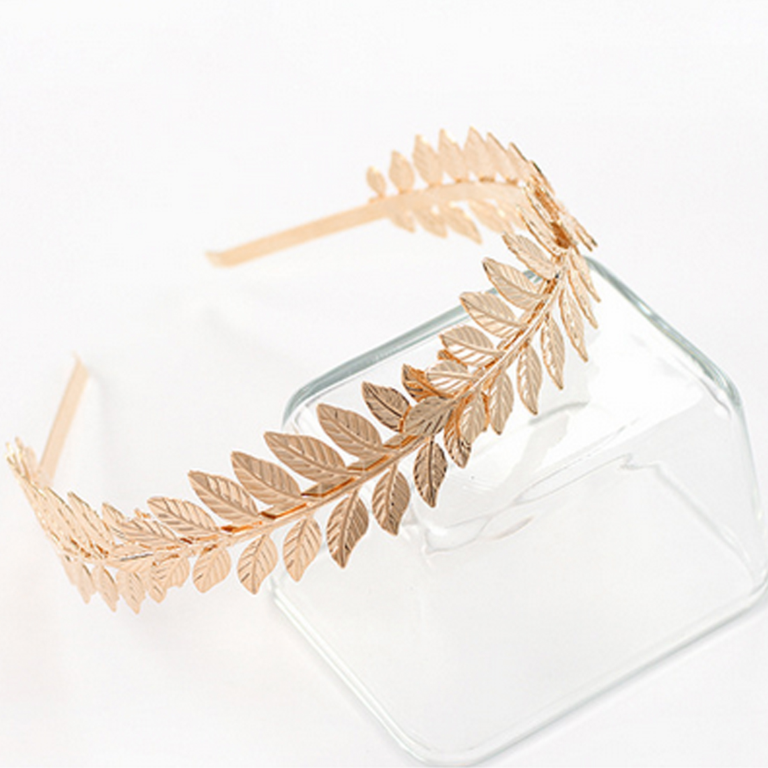 Girls Hair Band Women Hair Accessories   Headwear   Gifts Fashion 1Pcs Vintage Chic Laurel Olive Leaf Branch Crown Leaves Headband