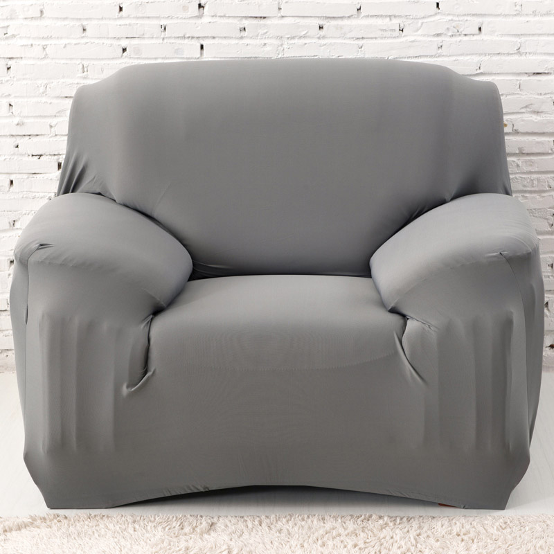 Grey Solid Innovative Textile Spandex Sofa <font><b>Cover</b></font> Furniture Protector Solid Colors Elastic <font><b>Chair</b></font> Slipcover