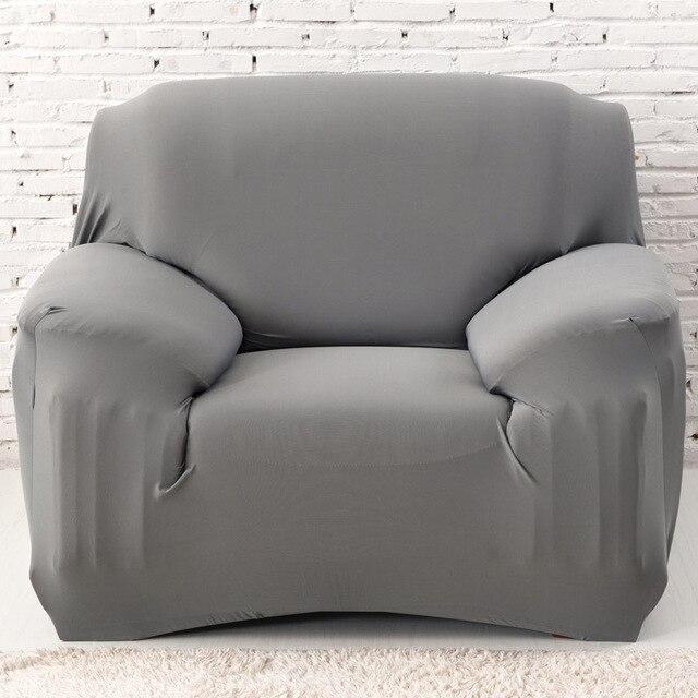 Sólido gris textil innovador spandex Cubiertas para el sofá Muebles ...
