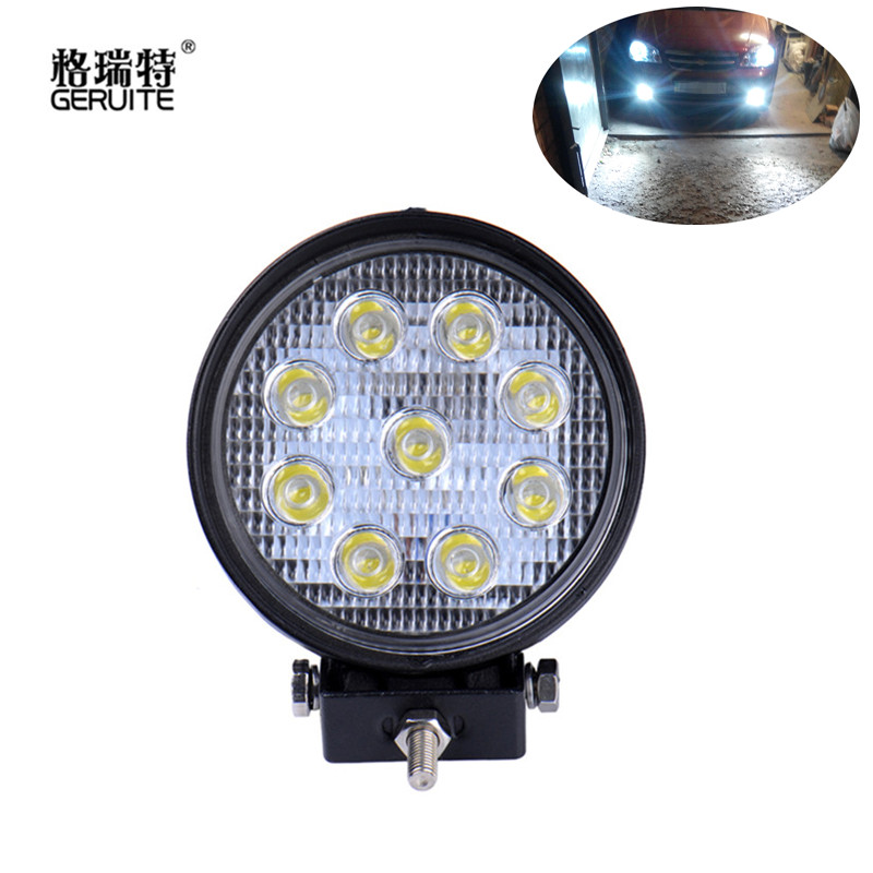 27W Round LED Work Light Offroad Boat Car Cool White LED IP67 Work Lamp Waterproof Light for SUV BMW Boating Hunting aluminum water cool flange fits 26 29cc qj zenoah rcmk cy gas engine for rc boat
