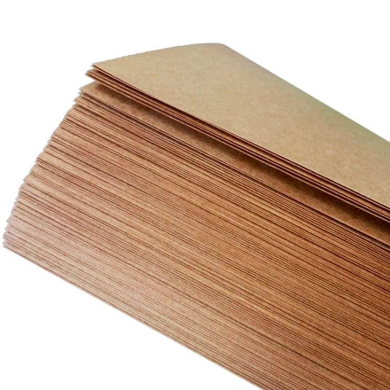 Купить с кэшбэком 50pcs/lot  A5 A4 kraft paper brown paper craft thick board cardboard card paper DIY card making paper 80g 120g 150g 200g 250g