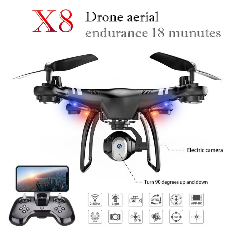 High Performance 360 degree Rolling HD Camera FPV WIFI Quadcopter Drone Altitude Hold Endurance 18 Minutes