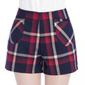 2016 Brand New Fashion Women Plaid Summer Style High Waist Shorts Casual Soild Color Women Shorts Plus Size Hot Sale Short Femme