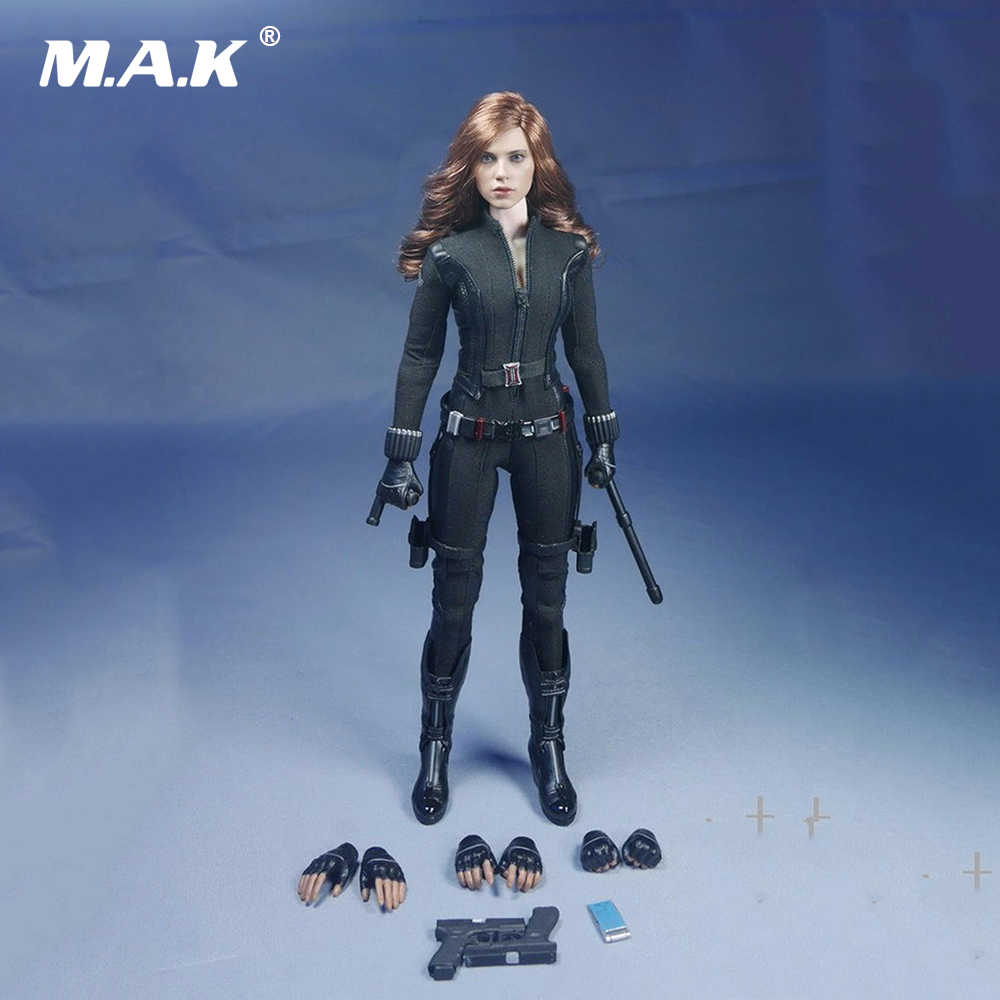 1/6 Black Widow Scarlett Johansson Woman Clothes suits Models With Head For 12 Action Figure Accessory without Body 1 6th scale figure accessory iron man headsculpt tony stark head shape for 12 action figure doll not included body and clothes