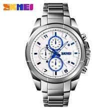 SKMEI Top Brand Fashion Watch 30m Waterproof Quartz Watch Steel Strap Business Casual Wrist Watch Models Relogio Watches цена
