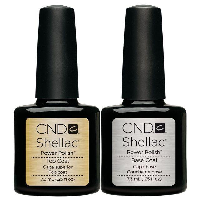 Cnd Shellac esmalte de uñas de Gel Base y capa superior 7 ml / 0.25 ...