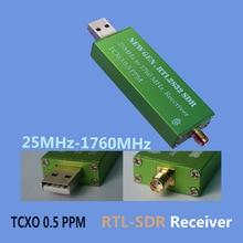 High Stability 25MHZ to 1760MHZ  RTL SDR Receiver 0.5PPM TXCO Support AM/NFM/FM/DSB/USB/L RTL2382U DVB T RTL SDR Receiver