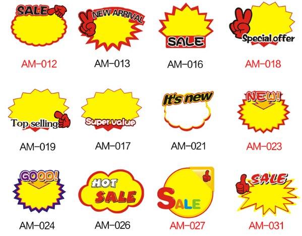 29cda59045 500 pcs Venda com desconto cartão POP Explosivo sinal promocionais preço  etiqueta de Papel Placas