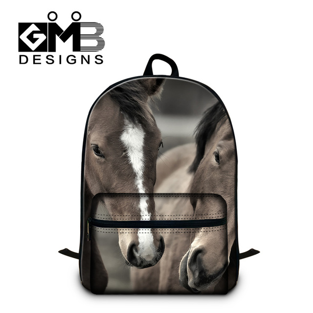 Horse School Backpack for Laptop Children rucksack bookbags cool book bags  for teens trendy day pack d15e401e2afb
