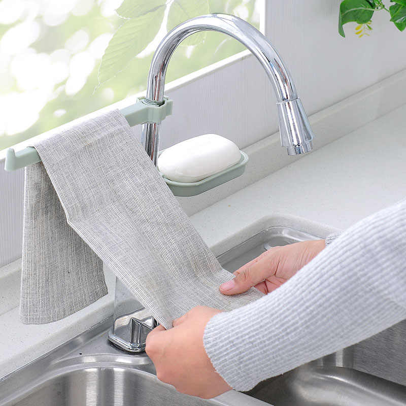 Hanging  Sink Storage Rack Draining Racks Dish Cloth Clip  Kitchen  Organizer Bathroom Tools Sponge Holder Faucet Clips