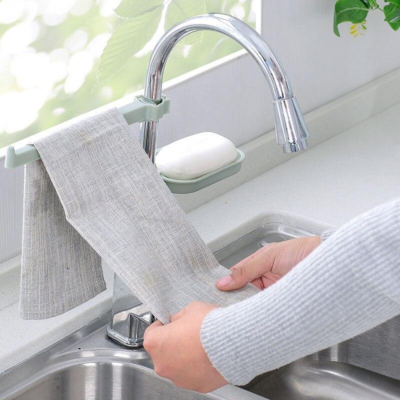 Hanging  Sink Storage Rack Draining Racks Dish Cloth Clip  Kitchen  Organizer Bathroom Tools Sponge Holder Faucet Clips