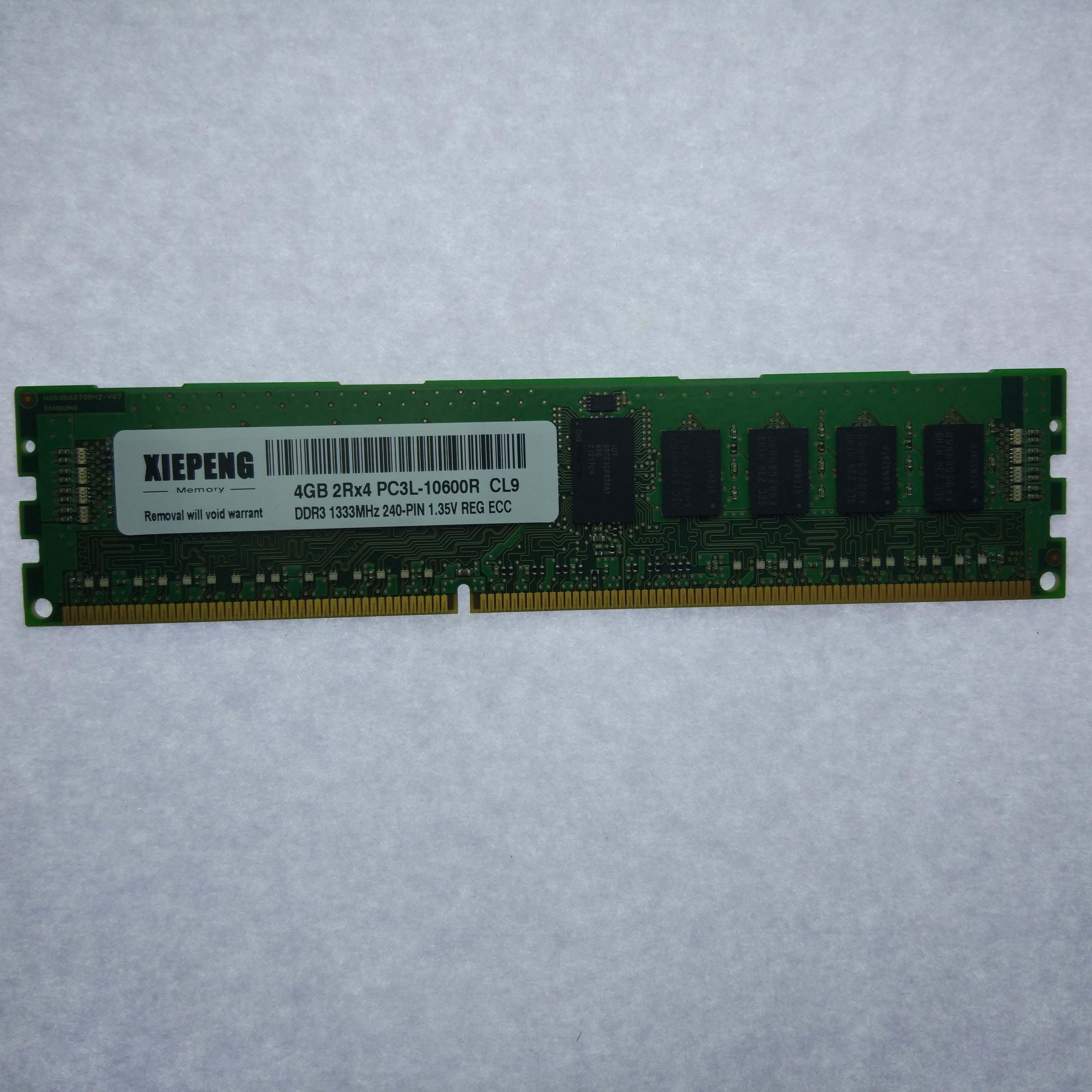 Samsung 8GB DDR3 2RX4 PC3L-10600R 1333MHz 240-Pin ECC REG Registered Server Ram