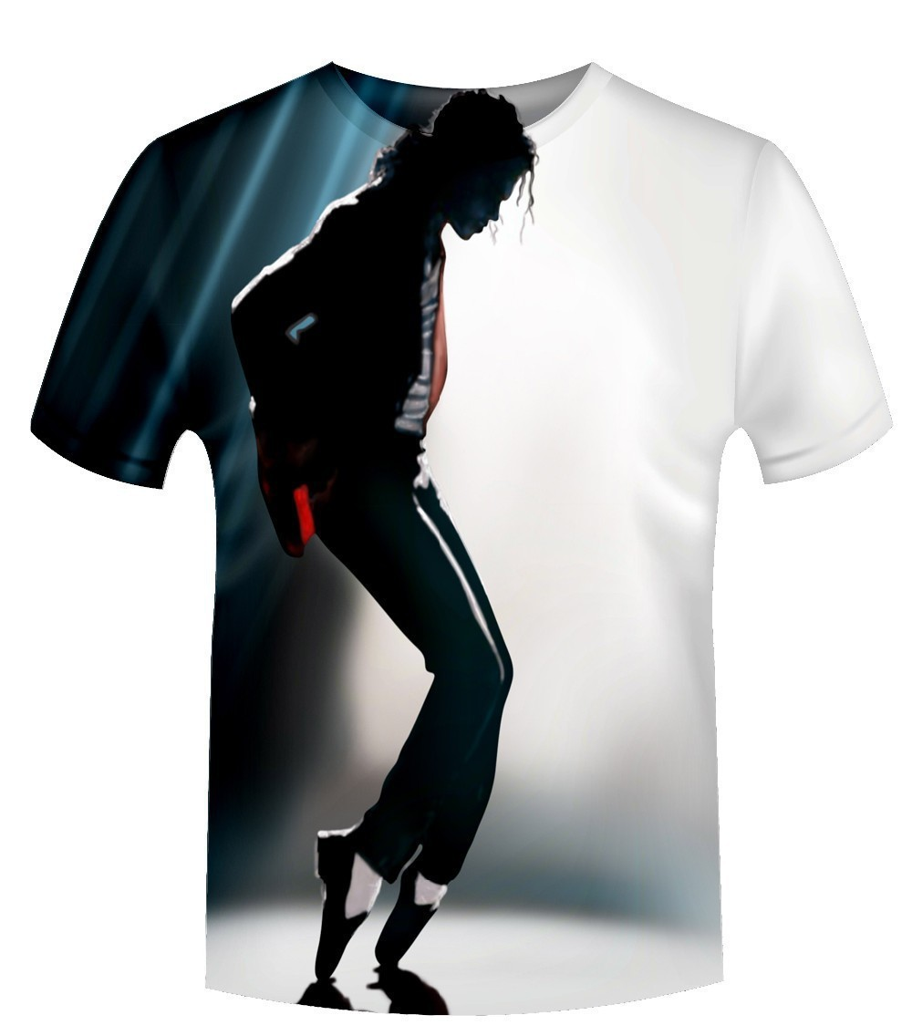 Hot Style 2018 New Fashion 3D Print Michael Jackson Graphic T Shirts Casual Short Sleeve O-neck T-shirt Female/Male Hip Hop Tops
