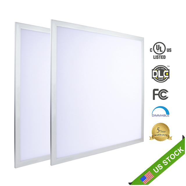 US $821 99 |USA LOS ANGELES STOCK! 2 pack/Lot Square LED Panel 600x600 40W  100 277V AC Dimmable Drop Ceiling Recessed LED Panel Light 2x2-in Ceiling