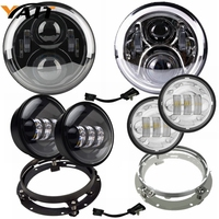 7Inch LED Headlight 4.5Inch LED Fog Lights Passing Lamps Headlamp Mounting Bracket For Harley Heritage Softail Classic