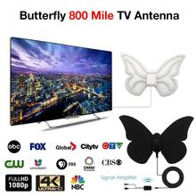 Newest High Quality Butterfly Digital TV Antenna Durable Europe America 800 Mile Support 1080p HD M