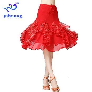 New Ballroom Dance Performance Skirt Practice for Modern Standard Foxtrot Quickstep Dance Skirt Tango Waltz Dancing Skirts