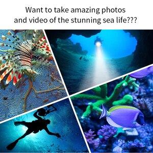 Image 4 - Diving Lanterna Flashlight 18650 Torch Underwater 80m Photography Light Video Lamp  L2 White Red Blue LED Scuba Photo Fill light