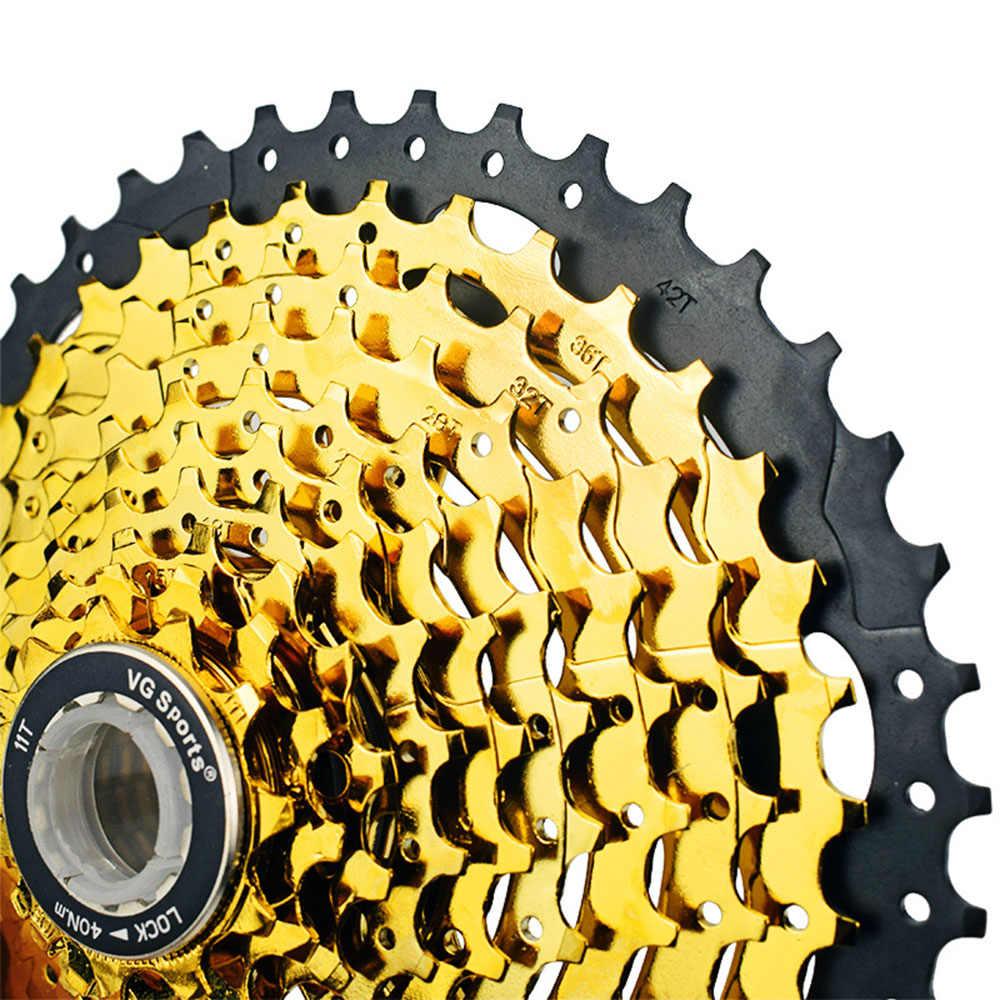 VG SPORTS Bike Flywheel MTB Cassette 10S Sprocket Golden 11-46T for SHlMANO SRAM