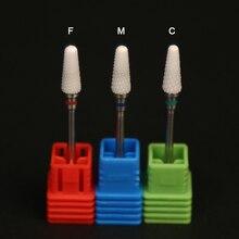 2PCS /Lot Ceramic Nail Drill Bits Flame Bit For Electric Nails Drills Grinding Machine
