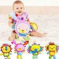 2016 Brinquedos Do Chocalho Do Bebê Newbron Animal Sinos de Mão Brinquedo Do Bebê Do Luxuoso de Alta Qualidade Presente de Natal Animal elefante/monkey/leão/coelho