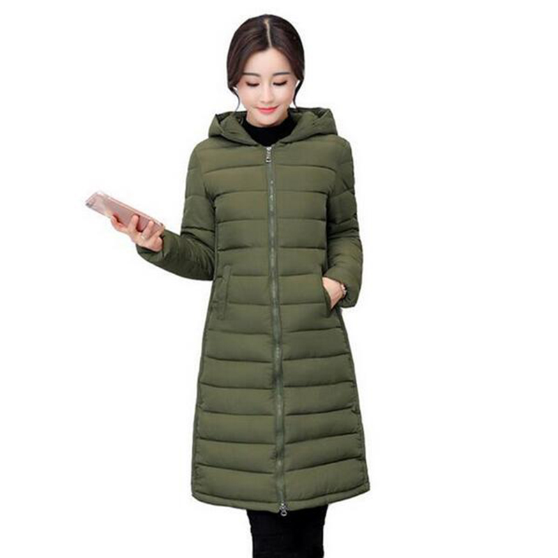 Autumn Winter Jacket 2017 New Arrival Women Hooded Coat Thin Cotton-padded Parka Wadded Jacket Long Slim Warm Outwear LU404 цены онлайн