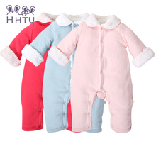 HHTU baby romper suit In the spring and autumn winter out suits winter climb clothes, the clothes baby thick clothes open files