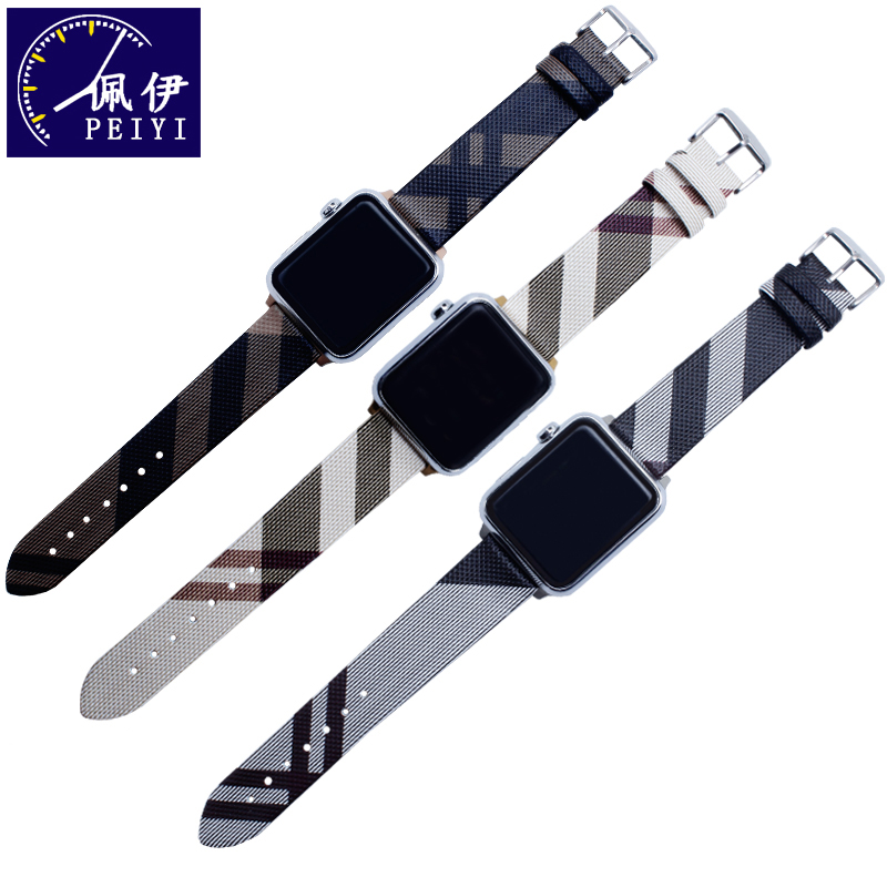 PEIYI PU Leather Loop Strap For Apple Watch Band 4 42mm 38mm Correa Watchband For Iwatch 44mm 40mm 3/2/1 Bracelet Accessories
