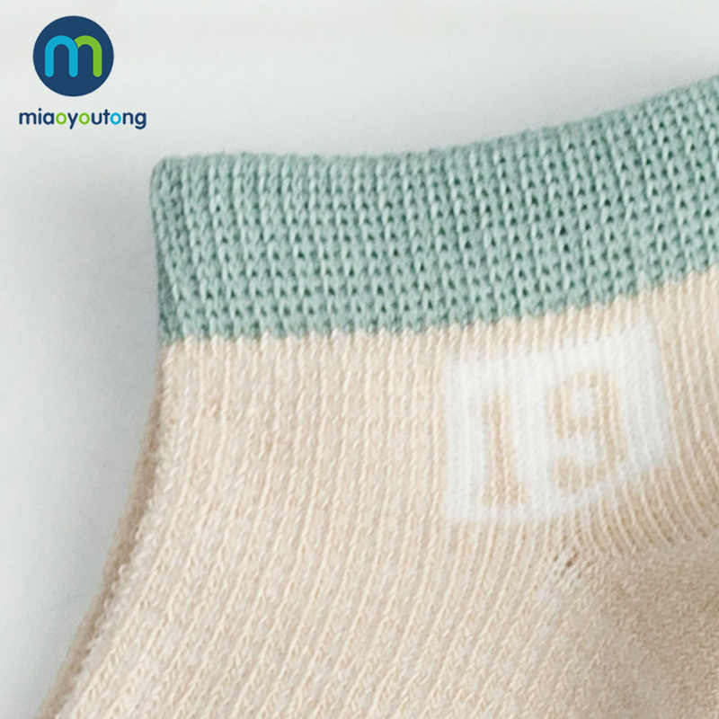5Pairs Soft Mesh Numeral Comfortable Cotton Boys Newborn Socks Kids Girls Baby Socks Skarpetki Meia Infantil Miaoyoutong in Socks from Mother Kids
