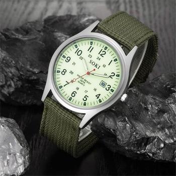 цена на 2019 Military Army Men's Date Canvas Band Stainless Steel Sport Quartz Wrist Watch Men Watch Waterproof Relogio Masculino A8