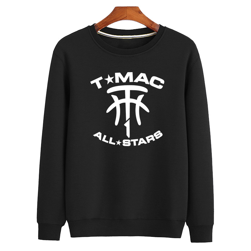 Mens Sports Basketball Coats TMcG/LJames/DRose LOGO Large Size Loose Terry Sweaters Breathable Cool Hoodies Without CapsMens Sports Basketball Coats TMcG/LJames/DRose LOGO Large Size Loose Terry Sweaters Breathable Cool Hoodies Without Caps