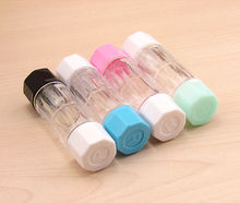 Travel Portable Cute Transparent Contact Lens Case Storage Container Holder Box Storage Boxes