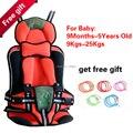 Caliente portable asientos de coche de bebé, asiento de coche para niños de para el bebé 9 - 25 KG y 9 meses-5 años con el envío gratis