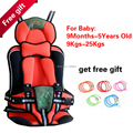 Hot portable baby car seats, children's car seats, car seat children's for Baby 9-25KG and 9 months-5 Years with Free Shipping