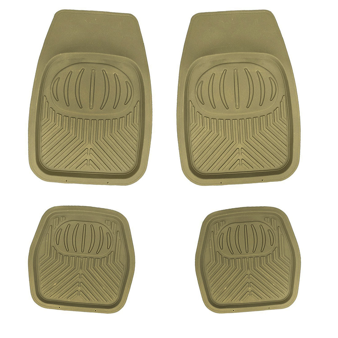 Rubber floor mats toyota camry - Multi Season Rubber Floor Mats 4pc Set Beige Fit Most Cars Suvs Vans And