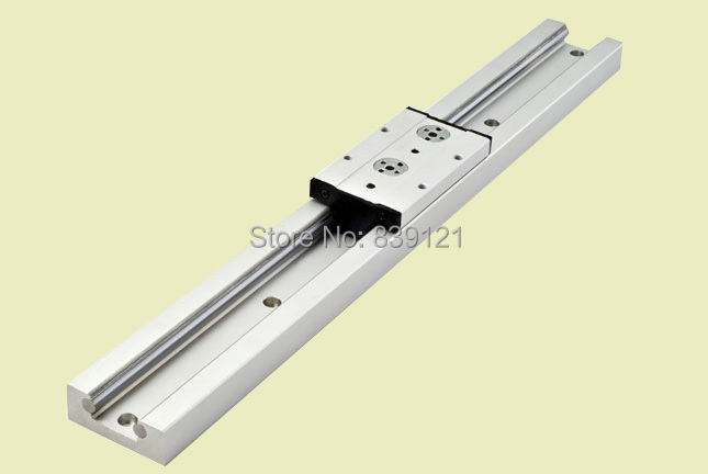Built-inside double axis of guide roller linear guide SG20N 300mm with one block SG20N take 4 bearing 1 piece bu3328 6 6 33 27 5 29 5 mm z25 guide rail u groove plastic roller embedded dual bearing