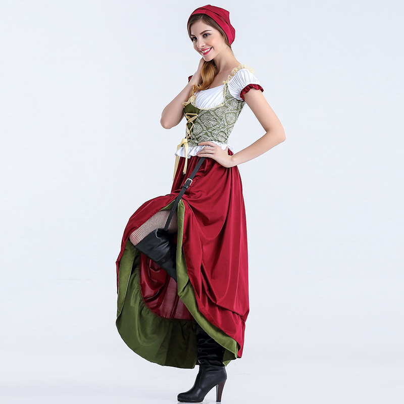 Women Dirndl Oktoberfest Maid Service Oktoberfest Costume Cosplay Fancy Party Dress Costumes Clothing 1